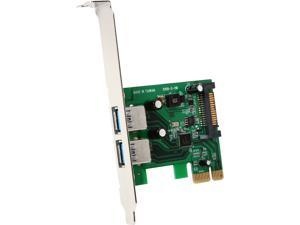 StarTech.com 2 Port PCI Express (PCIe) SuperSpeed USB 3.0 Card Adapter with UASP - SATA Power Model PEXUSB3S24