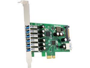 StarTech.com PEXUSB3S7 7 Port PCI Express USB 3.0 Card - Standard & Low-Profile - SATA Power - UASP Support - 1 Internal & 6 External USB 3.0 Ports