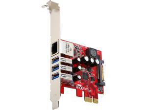 StarTech.com 3-port PCI Express USB 3.0 card + Gigabit Ethernet Model PEXUSB3S3GE