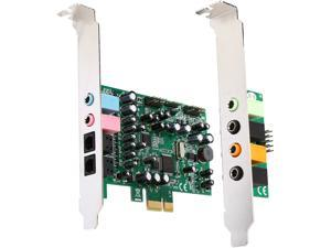 StarTech.com 7.1 channel sound card - PCI Express, 24-bit, 192KHz Model PEXSOUND7CH