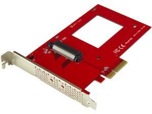 "StarTech.com U.2 to PCIe Adapter for 2.5"" U.2 NVMe SSD - x4 PCI Express 3.0 Model PEX4SFF8639"