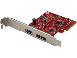 StarTech PEXUSB311A1E USB 3.1 PCIe Card - 2 port - 1 x USB-A and 1 x eSATA - 10Gbps - USB 3.1 Card - eSATA Card - USB 3.1 Expansion Card