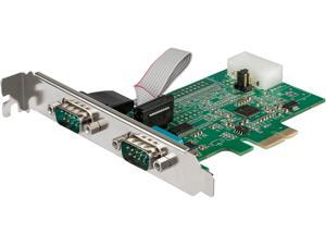 StarTech.com PEX2S953LP 2 Port RS232 Serial Adapter Card with 16950 UART - PCI Express Serial Port Card - 921.4Kbps - Windows & Linux Compatible