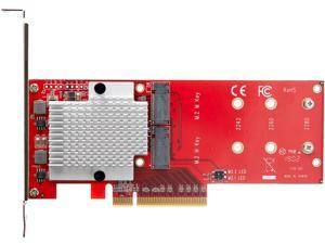 StarTech.com PEX8M2E2 x8 Dual M.2 PCIe SSD Adapter - PCIe 3.0 - PCI Express M.2 SSD Adapter Card - For PCIe NVMe and PCIe AHCI M.2 SSDs (PEX8M2E2)