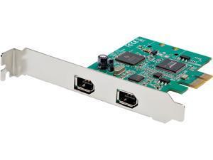 StarTech.com PEX1394A2V2 2 Port PCI Express FireWire Card - 1394a Firewire - TI TSB82AA2 Chipset - Windows & Mac Compatible (PEX1394A2V2)
