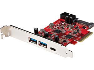 5-Port USB PCIe Card, 10Gbps USB 3.1 Gen 2 PCIe Card w/ 1x USB-C & 2x USB-A, 1x 2 Port IDC (Internal 5Gbps USB Header Expansion), USB C PCIe Card, PCI Express USB Controller - Windows/macOS/Linux (PEX