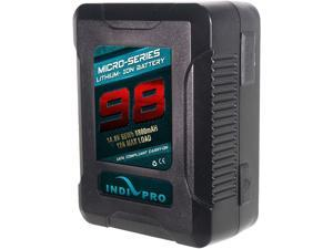 Indipro Micro-Series 98 Wh V-Mount Li-Ion Battery and D-Tap Pro Battery Charger (2.5A) Kit PSKT25