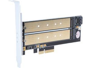 Silverstone SST-ECM22 Dual M.2 to PCIe x4 NVMe SSD and SATA 6 G  Adapter Card with Advanced Cooling