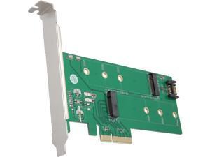 VANTEC UGT-M2PC200 M.2 NVMe + M.2 SATA SSD PCIe X4 Adapter
