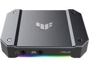 ASUS TUF Gaming Video Capture Card(CU4K30) 4K/2K/1080p120, Near-Zero Latency, HDR Passthrough, USB 3.2, RGB Lighting, Certified for OBS™, USB 3.2 Plug & Play, Record &Stream with PC, PS5, Xbox, Switch