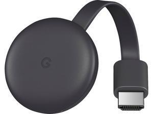 Google - Chromecast (3rd Gen) Streaming Media Player -  Charcoal Grey (GA00439-CA)