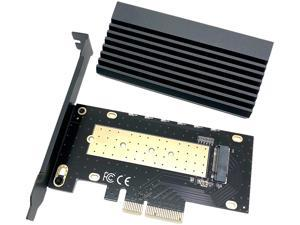 Micro Connectors M.2 NVMe 80mm SSD PCIe x4 Adapter with Covered Heat Sink Model PCIE-M20803HS