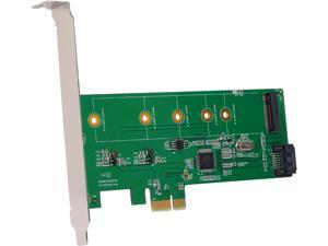 SYBA PCIe x1 to M.2(NGFF) + SATA 6G (HDD/SSD) with Standard & Low Profile Brackets Model SI-PEX50065