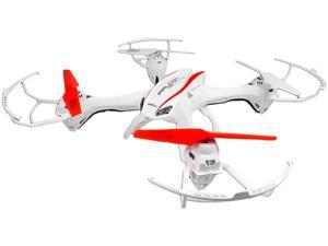 UDI U842 4-Channel 6 Axis Big UFO Drone RC Quadcopter with HD Camera, White