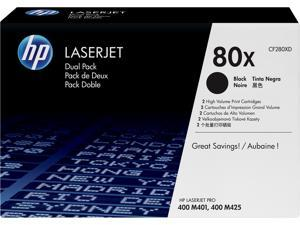 HP 80X High Yield LaserJet Toner Cartridge - Dual Pack - Black