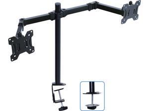 """AIMEZO Monitor Stand Dual LCD Monitor Desk Mount Stand Heavy Duty Fully Adjustable Fits Two Screens up to 17""""-32"""" 17.6 lbs. Weight Capacity Per Monitor"""
