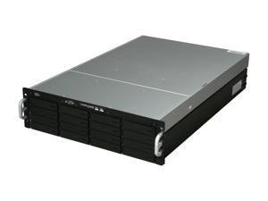 "SANS DIGITAL EliteNAS EN316L+BXE Hardware RAID 0, 1, 1+0, 5 and 6 RAID with Hot Spare 16 3.5"" Drive Bays USB x 2 3U 16 Bay Intel Xeon Nehalem Hardware RAID 6 NAS + iSCSI Rackmount Server"