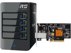 HighPoint RocketStor 6414TS - 4-Bay Q-SATA Turbo RAID Tower Enclosure