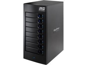 HighPoint RocketStor RS6628A RAID 0, 1, 5, 6, 10, 50, JBOD Thunderbolt 3 8-Bay 2nd Gen Thunderbolt 3 Hardware RAID Enclosure