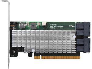 HighPoint SSD7120 PCI-Express 3.0 x16 U.2 Ultra-High Performance, Flexible NVMe U.2 RAID Controller