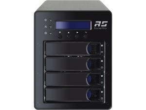 HighPoint RocketStor RS6124V RAID 0, 1, 5, 1/0, JBOD and Single Disk USB 3.1 Gen 2 RAID Storage Enclosure