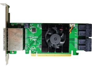 HighPoint SSD7184 PCI-Express 3.0 x16 Low Profile U.2 8-Channel Hybrid U.2 NVMe RAID Controller