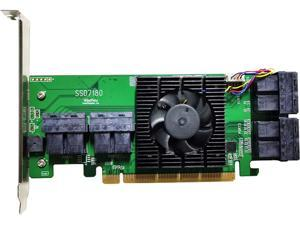 HighPoint SSD7180 PCI-Express 3.0 x16 Low Profile U.2 Controller Card