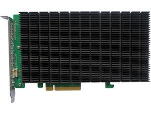 HighPoint SSD6204 PCI-Express 3.0 x8 PCI-Express Driverless, Bootable 4x M.2 PCIe Gen3 x8 NVMe RAID Controller