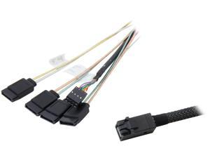 LSI LSI00411 1m Internal Cable SFF8643 to x4 SATA HDD (mini SAS HD to SATA data port)--Avago Technologies