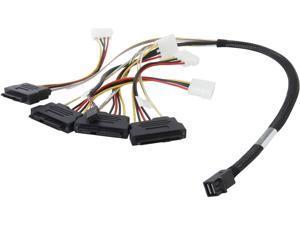 LSI LSI00412 0.6 meter Internal Cable SFF8643 to x4 SAS8482 w/power (mini SAS HD to SAS HDD)--Avago Technologies