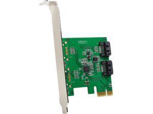 SYBA SI-PEX40094 PCI Express Low Profile Ready SATA III 2 Internal 6 Gbps Ports PCI-e Controller Card