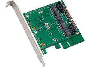 """Syba SY-ADA40101 RAID 0 / 1 / JBOD 3.5"""" SATA III to Dual mSATA RAID Adapter"""