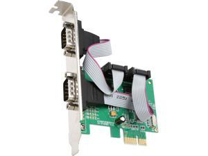 SYBA SI-PEX15058 2 Port DB9 Serial PCI-E 1.0 x1 Controller Card