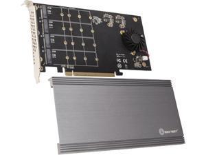 SYBA SI-PEX40161 PCI-Express 3.0 x16 PCI-Express Quad M.2 PCIe 3.0 x4 PCIe x16 Expansion Card Intel VROC and AMD Ryzen Threadripper NVMe Raid