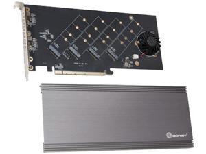 SYBA SI-PEX40162 PCI-Express 4.0 x16 PCI-Express Quad M.2 PCIe 4.0 x4 PCIe x16 Expansion Card Intel VROC and AMD Ryzen Threadripper NVMe Raid