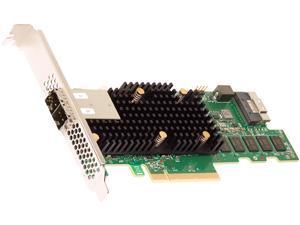 BROADCOM 05-50076-00 PCI-Express 4.0 x8 PCI-Express MegaRAID 9580-8i8e RAID Controller