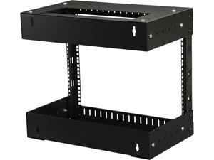 StarTech.com RK812WALLOA 8U Open Frame Wall Mount Equipment Rack - Adjustable Depth