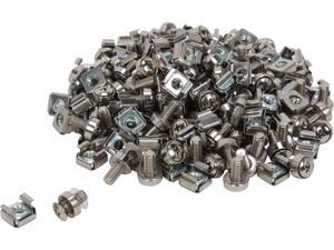 StarTech.com CABSCREWM62 100 Pkg M6 Mounting Screws and Cage Nuts for Server Rack Cabinet