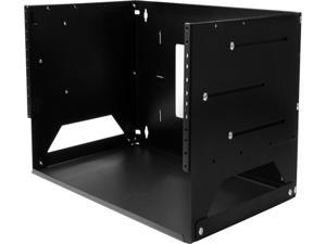 StarTech.com 4U Wall-Mount Server Rack with Built-in Shelf - Solid Steel - Adjustable Depth 12in to 18in