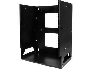 StarTech.com 8U Wall-Mount Server Rack with Built-in Shelf - Solid Steel - Adjustable Depth 12in to 18in