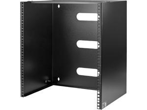 StarTech.com WALLMNT12 12U Wall-Mount Bracket for Shallow Rack-Mount Equipment - Solid Steel - 12U