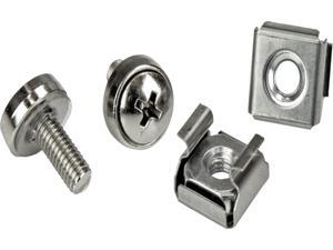 StarTech CABSCRWM520 StarTech.com Rack Screws - 20 Pack - Installation Tool - 12 mm M5 Screws - M5 Nuts - Cabinet Mounting Screws and Cage Nuts