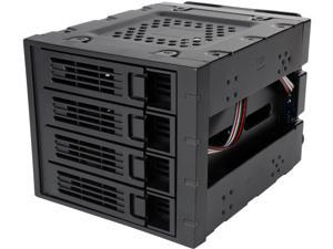 "Rosewill RSV-SATA-Cage-34 - Hard Disk Drives - Black, 3 x 5.25"" to 4 x 3.5"" Hot-Swap - SATA III / SAS - Cage"