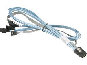 SUPERMICRO CBL-0294L-01 Internal Reverse Breakout Crossover MiniSAS to 4 SATA 70/70/70/70cm Cable