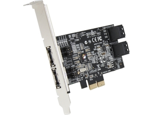 SIIG SC-SA0R11-S1 PCI-Express 2.0 x2 Low Profile Ready SATA III (6.0Gb/s) 4-Port Hybrid RAID Controller Card