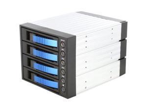 "iStarUSA BPU-340SATA-BLUE 3x5.25"" to 4x3.5"" SAS/SATA 6.0 Gb/s Hot-Swap Cage"