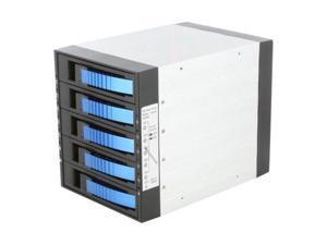 "iStarUSA BPU-350SATA-BLUE 3x5.25"" to 5x3.5"" SAS/SATA 6.0 Gb/s Hot-Swap Cage"
