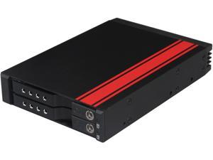 "iStarUSA BPN-2535DE-SA 3.5"" to 2 x 2.5"" SATA 6 Gbps HDD SSD Hot-swap Rack"