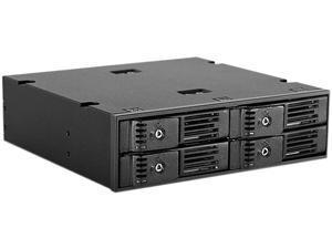 "iStarUSA BPN-124K-SA 5.25"" to 4 x 2.5"" SATA 6Gb/s Trayless Hot-Swap Cage"