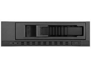 "iStarUSA T-7M1HD-BLACK 5.25"" to 3.5"" 2.5"" 12Gb/s HDD SSD Hot-swap Rack (Black Tray)"